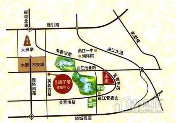 曲江诸子阶交通图