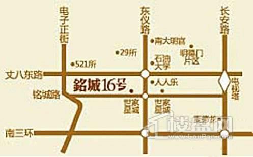铭城16号交通图