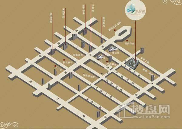 绿城浪琴湾交通图