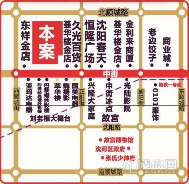 中街九龙港交通图