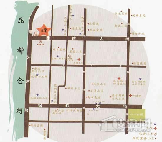 龍晟商务广场交通图