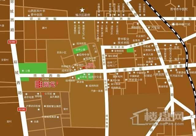 经纬丽苑项目交通图