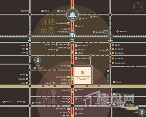 长安大街三号交通图