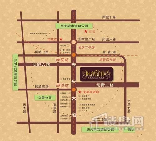 枫韵润园交通图