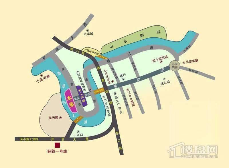 利尔月半湾 交通图