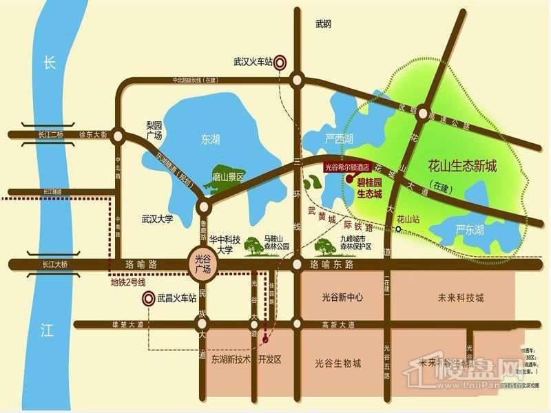 碧桂园生态城交通图