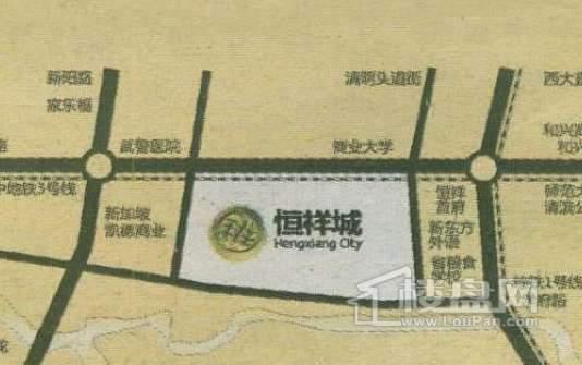 恒祥城交通图