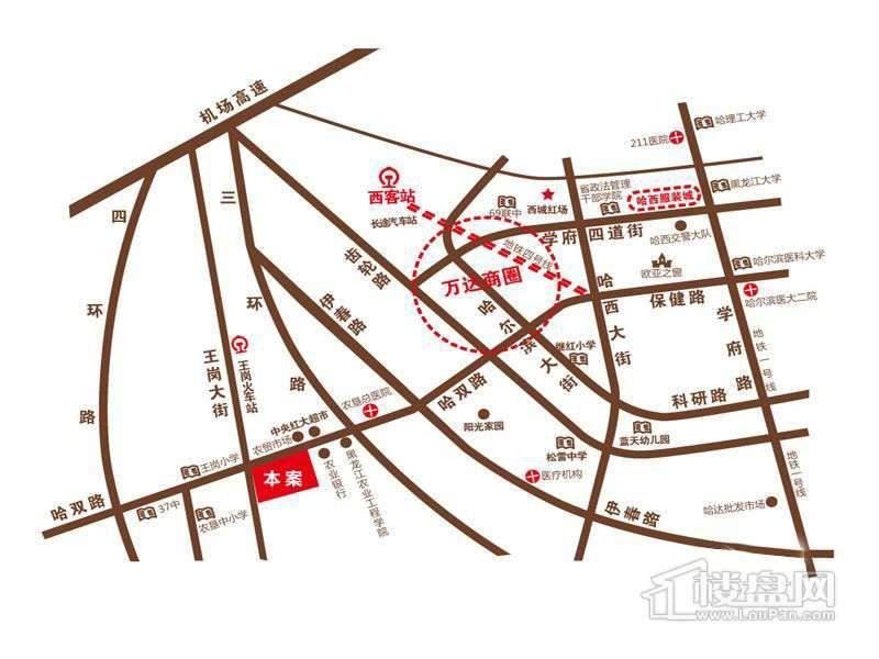 旗凯丽园交通图