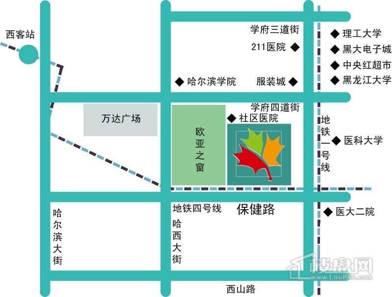 枫蓝国际交通图