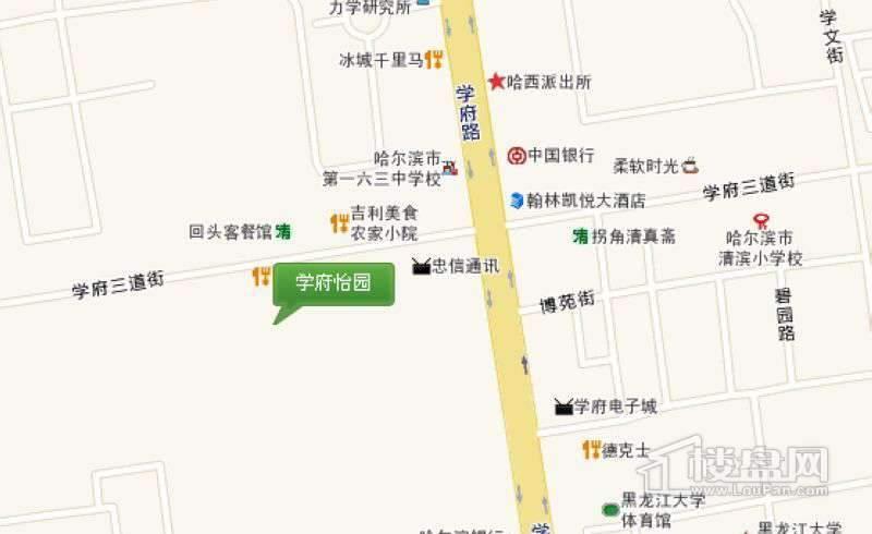 学府怡园交通图