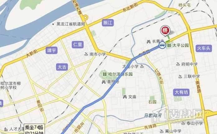 滨江逸品交通图