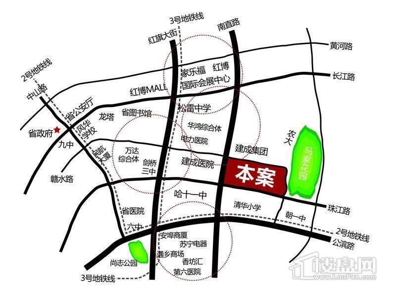 珠江帝景交通图