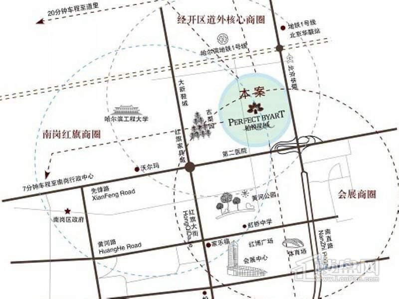 柏悦星城交通图