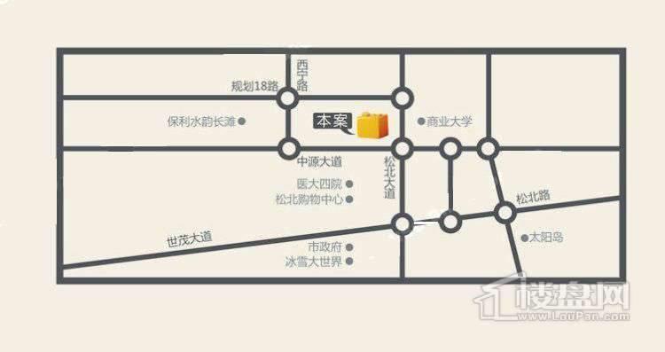 龙鸿怡家交通图
