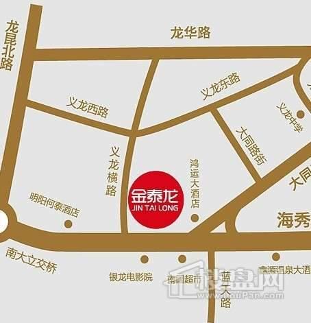金泰龙天街交通图