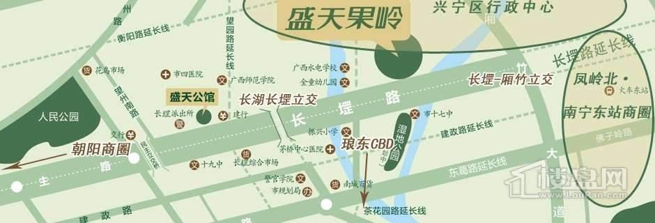 盛天果岭交通图