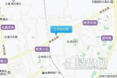 江宇世纪城交通图