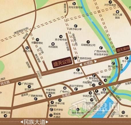 盛天公馆交通图