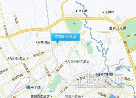 荣和山水绿城交通图