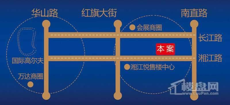 湘江悦交通图