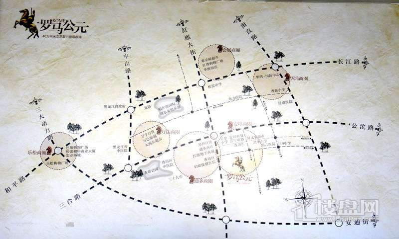 罗马公元交通图