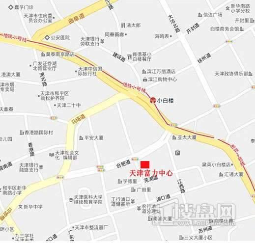 天津富力中心商铺位置图