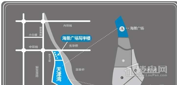 海景广场写字楼交通图