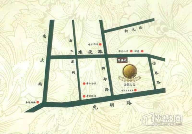 金色人文交通图