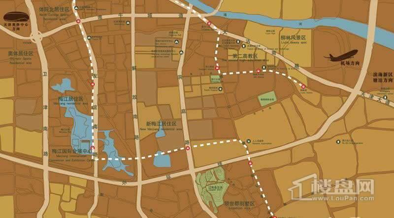 首创爱这城帕克洋房交通图