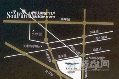富力津门湖位置图