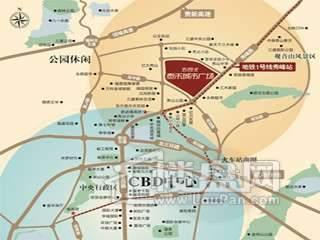 东二环泰禾广场 交通图