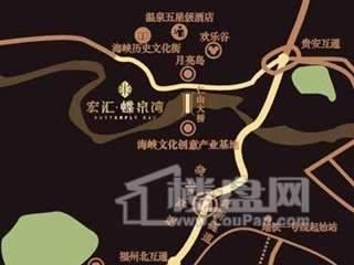 宏汇蝶泉湾交通图