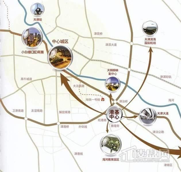 港基中心位置图