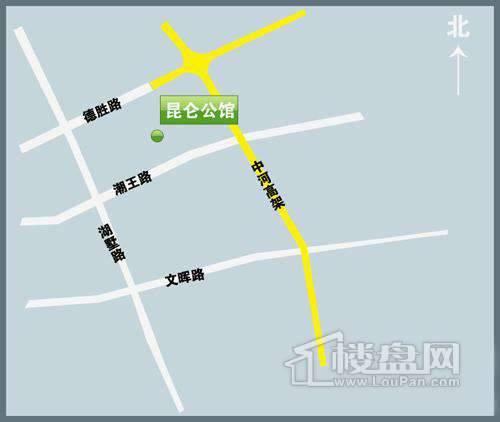 昆仑公馆交通图