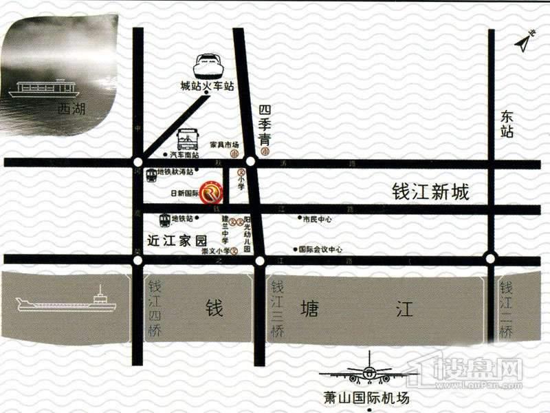 日信国际交通图