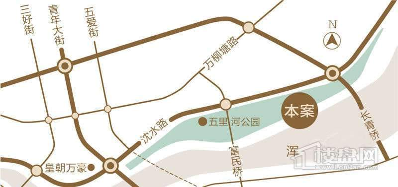 保利康桥交通图