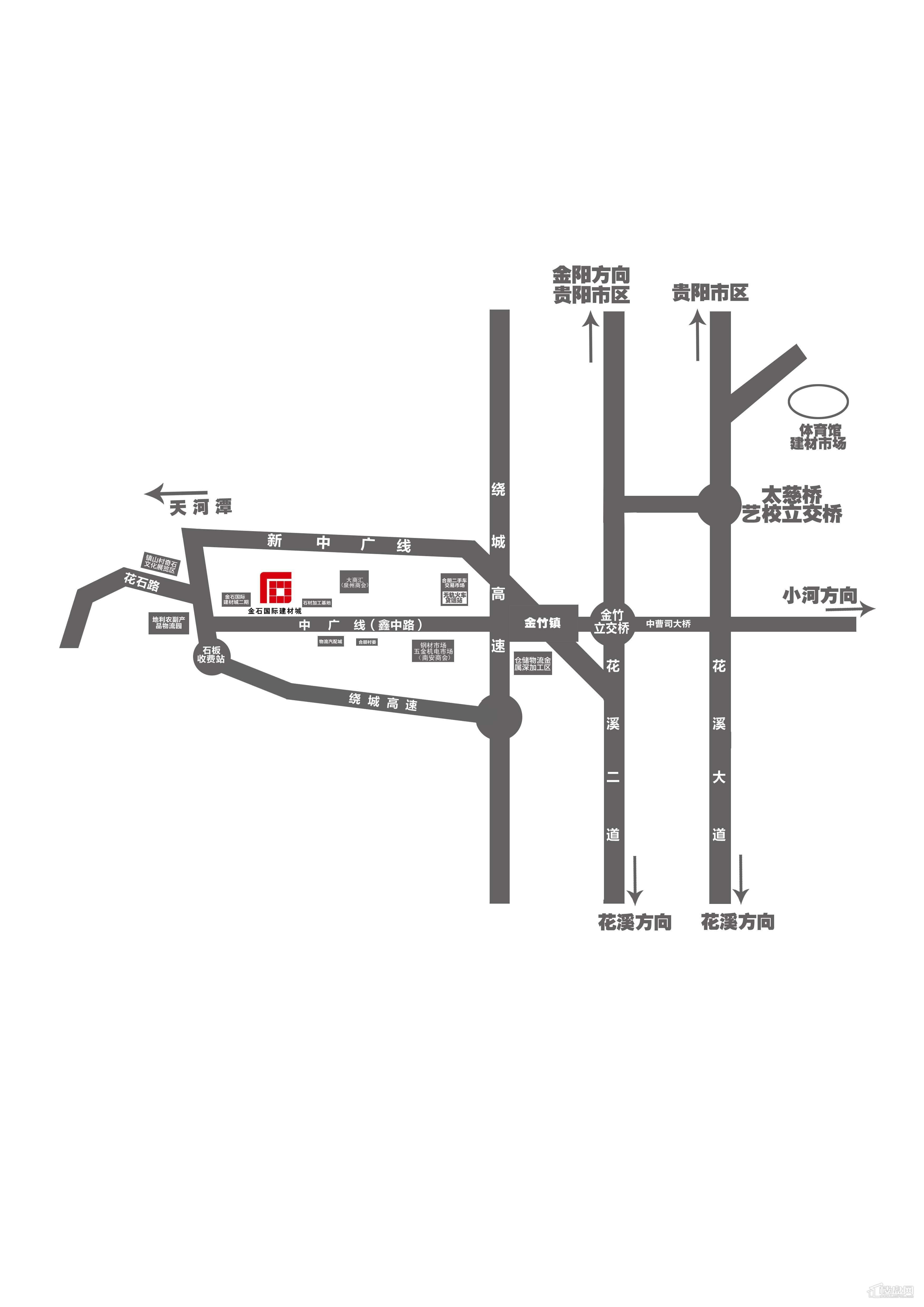 金石国际建材城交通图