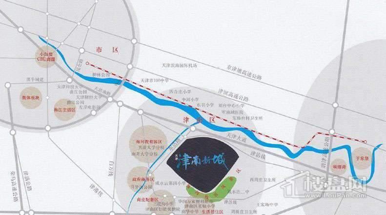 天津津南新城位置图