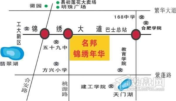 锦绣年华交通图
