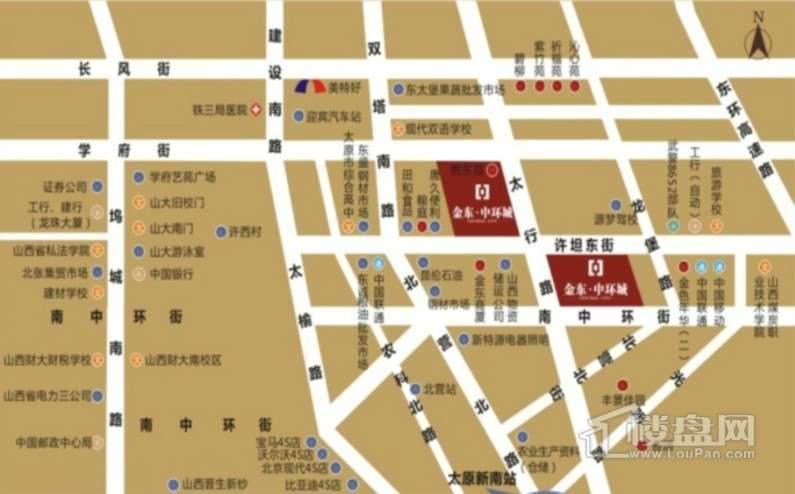 金东中环城交通图