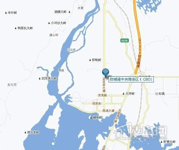 防城港中央商务区CBD交通图