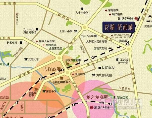 龙湖紫都城交通图