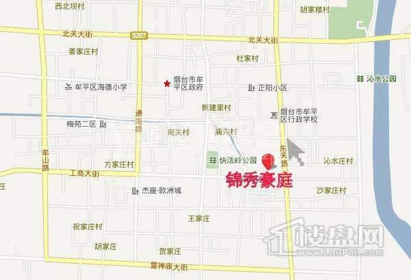 锦秀豪庭交通图