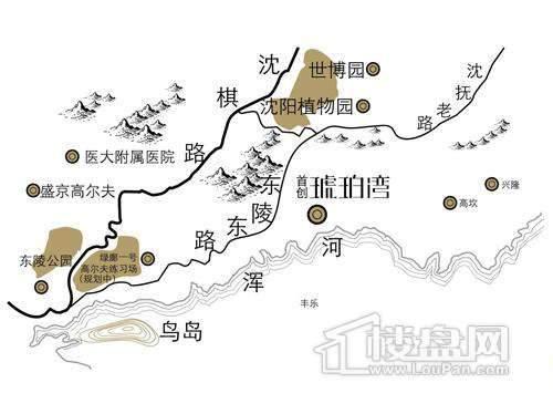 首创琥珀湾交通图