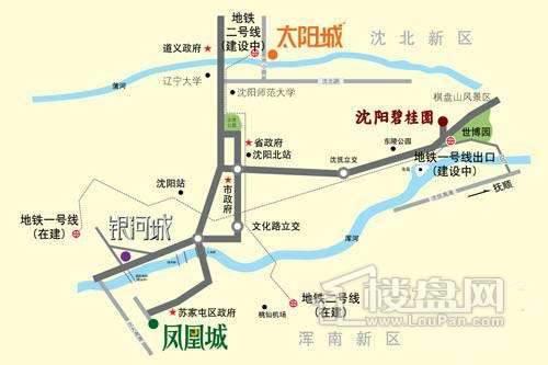 沈阳碧桂园交通图