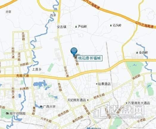 桃花源祈福城交通图