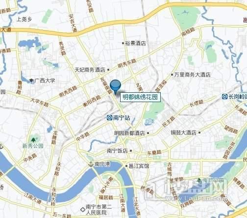 明都锦绣花园交通图