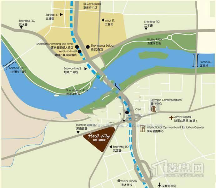 首创国际城交通图