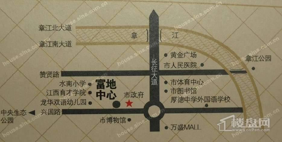 富地中心交通图