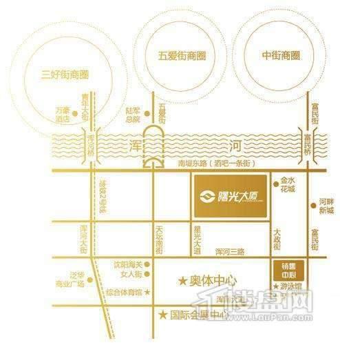曙光大厦交通图